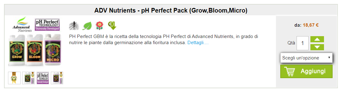 ADV Nutrients ph perfect pack